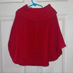 Carter's knitted red poncho. 5T- girl toddler